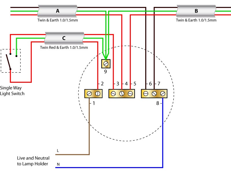 Ceiling rose old colours loop wiring diagram loop drawing \u2022 wiring diagrams j squared co one way lighting wiring diagram at gsmx.co